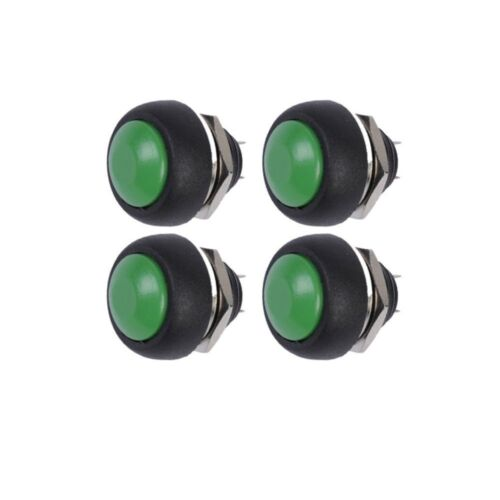 50PCS Green 12mm Waterproof momentary Push button Switch Mini Round Switch
