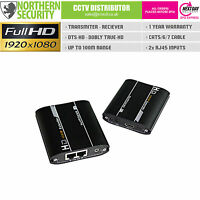 Hd 1080p Hdmi Extender Balun Video Over Cat 5/6/7 Ethernet Rj45 Cable Up To 100m