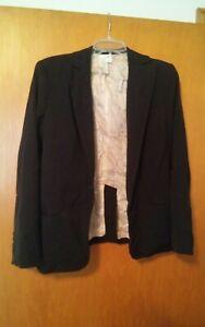 000-Womens-Max-Studio-Size-8-Black-Blazer-Jacket
