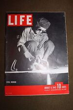 "Original WW2 U.S. LIFE Magazine Female ""Steel Worker"" to Cover, 1943 dated"