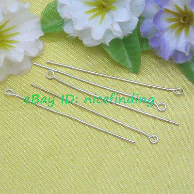 FGP0268 500pcs Silver Plated Eye Pins Jewelry Finding 50mm