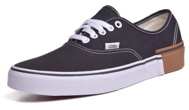 21adebb2467f VANS Authentic Gum Block Black Men s Classic Skate Shoes Size 9.5 ...