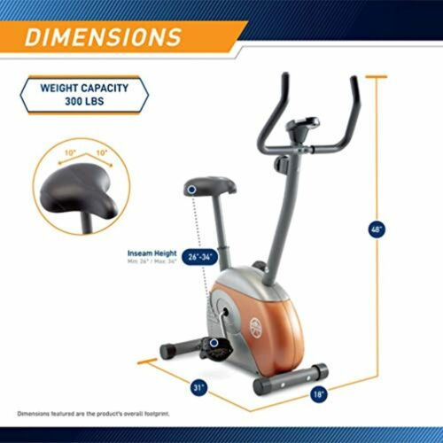 Marcy Upright Adjustable Exercise Bike ME-708 with Smooth Magnetic Resistance