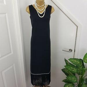 CRIMPLENE-Robe-vintage-a-clapet-20-S-30-S-Gatsby-Charleston-Noir-Long-Taille-10