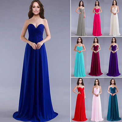 1 Lady Wedding Bridesmaid  Elegant Cocktail Evening Formal  Prom Long Gown Dress