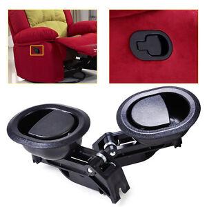 2pcs All New Quality Durable Black Oval Recliner Sofa