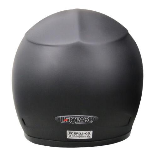 LEO-115 Fibreglass Full Face Motorbike Helmet Motorcycle Extra Visor Optional
