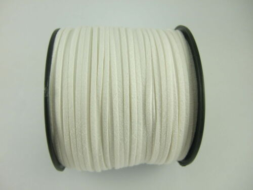 5//100 Yards 2.5mm Faux Suede Cord Flat Leather Cord Bracelet Necklace Rope DIY