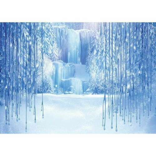 Frozen Waterfall Ice World Backdrop Photography Props Photo Background~New.eiKY