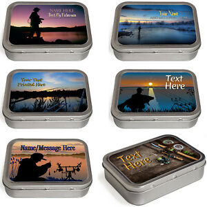 Personalised Fishing Tobacco Tin 2oz Baccy Fathers Day Cigarette Birthday Gift