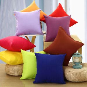 Sofa-Auto-Kissenhuelle-Kissenbezug-Dekokissen-100-Baumwolle-40x40-cm-22-Farben