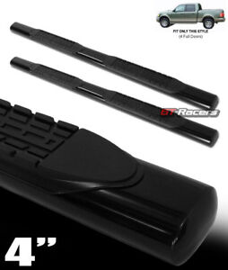 For-2001-2003-F150-Supercrew-Crew-Cab-4-034-Black-Side-Step-Nerf-Bars-Running-Board