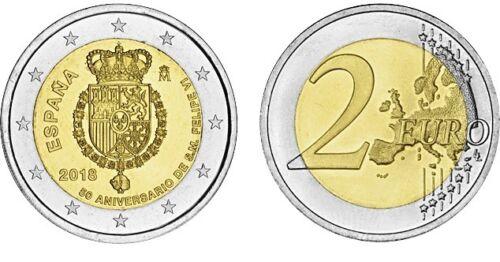 Spain 2 euro 2018 50th Anniversary King UNC España Bimetal