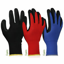 Gardening Gloves For Work 12 Pairs Breathable Rubber Coated Outdoor Protective