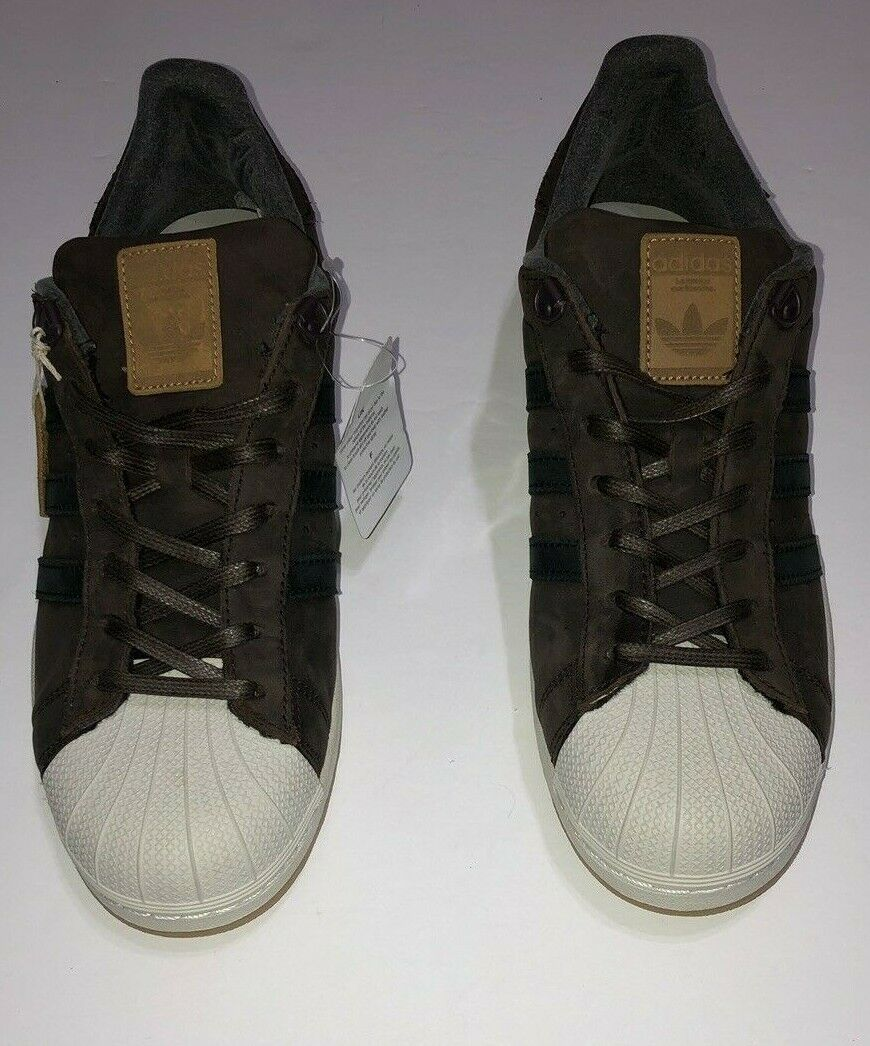 Adidas Originals S82214 Men`s Superstar Size 11.5 waxed lace