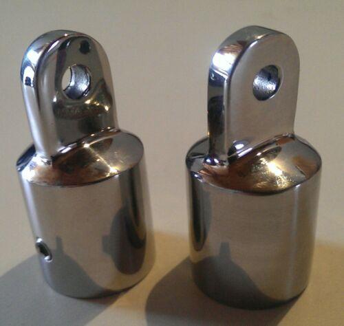 """Pair of 7//8/"""" Stainless Steel 316 External Eye End Bimity Top Frames"""
