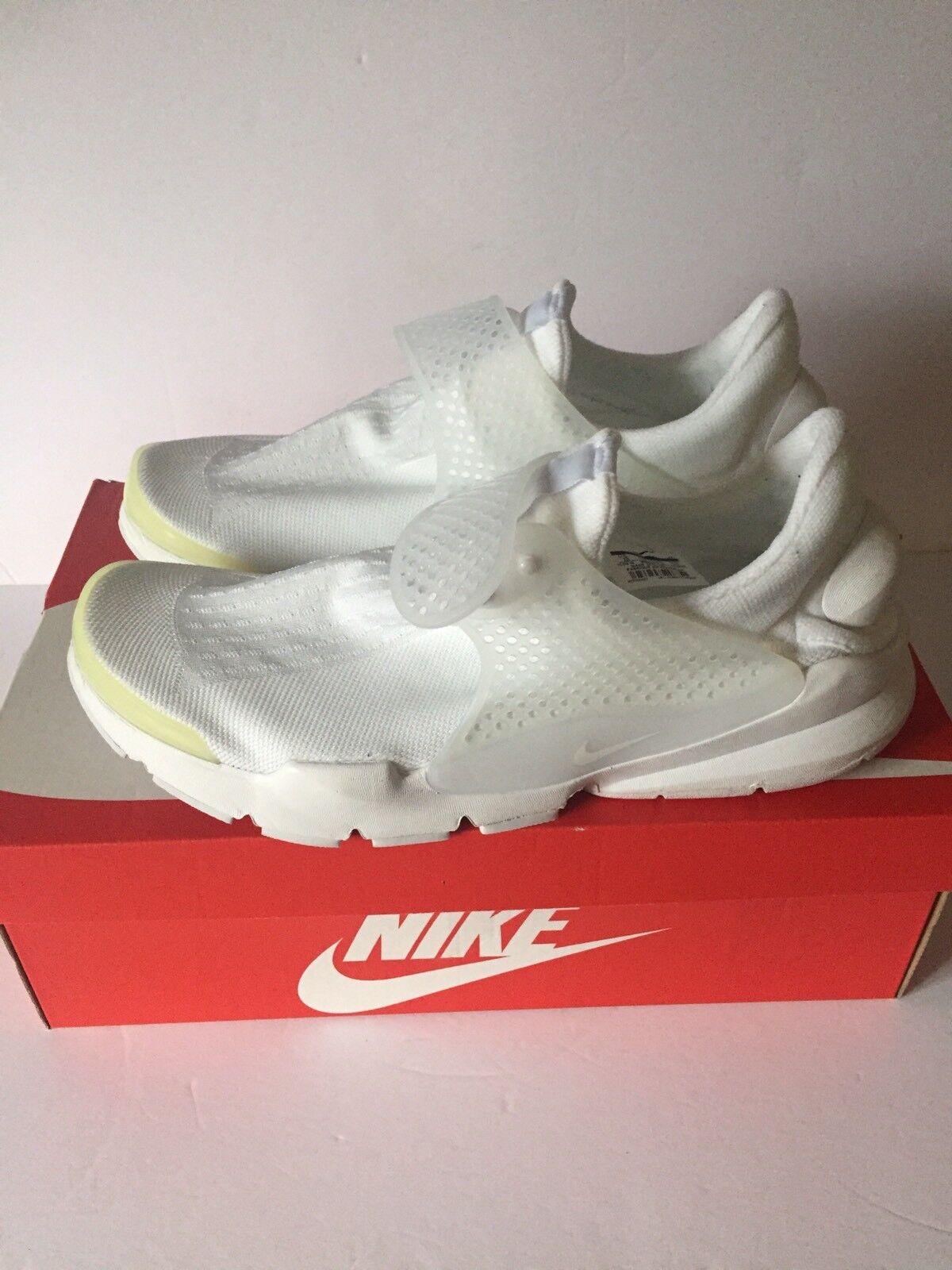 Nike Sneakers Sock Dart 819686 100 Triple White Running shoes Men Size 13
