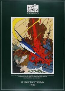 Affiche-Offset-Blake-et-Mortimer-Espadon-1946