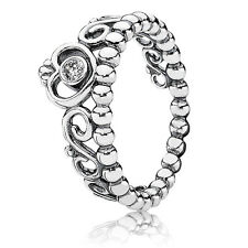 New! Authentic Pandora 925 Silver My Princess Stackable Ring 190880CZ Size 5/50