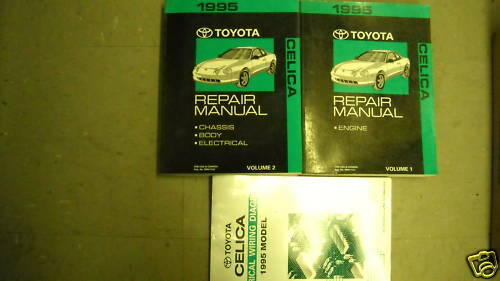 1995 Toyota Celica Service Repair Shop Manual Set Oem W