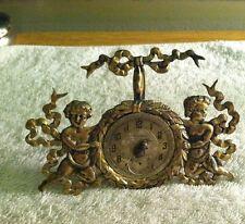 George Shiebler Antique Sterling Silver Cherubs Gold Vermeil Pocket Watch Holder