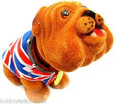 Nodding British Bulldog British Nodding Dog Union Jack Bull Dog Waistcoat Small