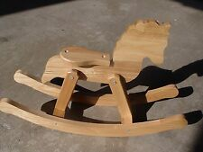 $49.99 RETAIL OAK WOOD ROCKING HORSE, MULTI-USE NEW.