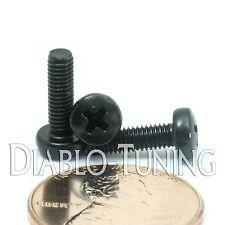 M3 x 10mm - Qty 10 - Phillips Pan Head Machine Screws - DIN 7985 A - Black Steel