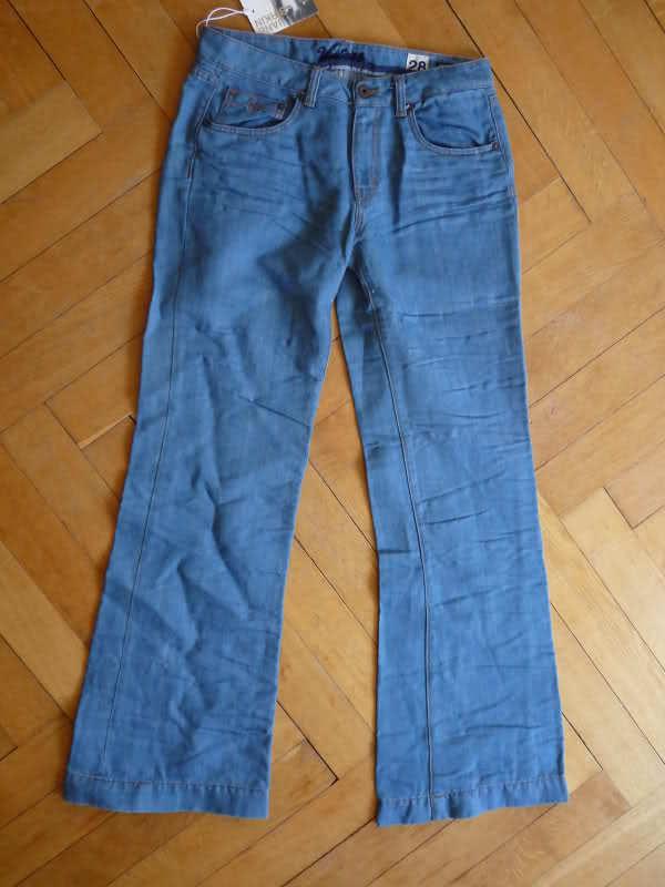 Neu Original Vintage 55 Vintage55 Flare Jeans Schlag Jeans Jane Birkin W27