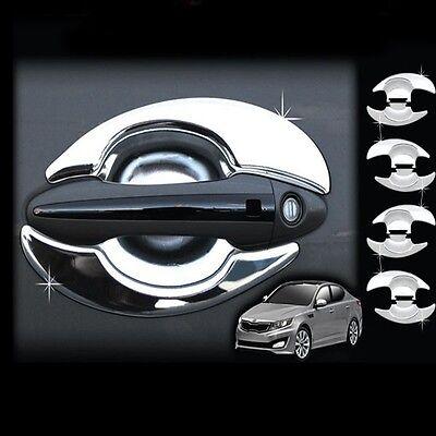 Chrome Door Bowl Molding Cover 8p Kit For 08 09 10 11 12 Kia Forte New Cerato