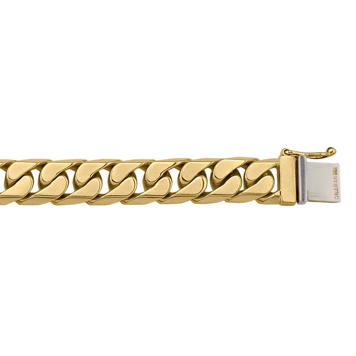 10k - 18k Yellow gold Bracelet, 48.0 - 69.0 grams, 8.5 , 9.3mm, NEW