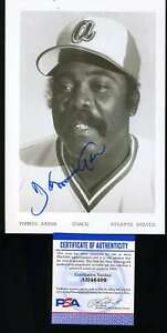 Tommie-Aaron-PSA-DNA-Coa-Hand-Signed-6x9-Photo-Autograph