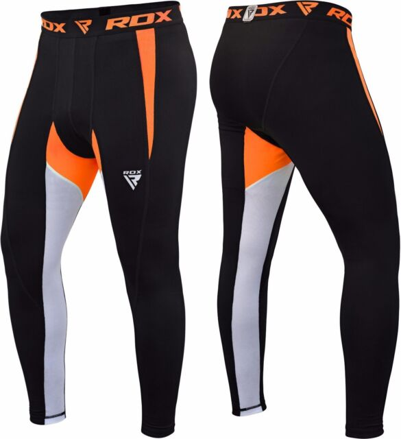 RDX Men Compression Fitness Long Pants Under Base Layer Skin Leggings Sports