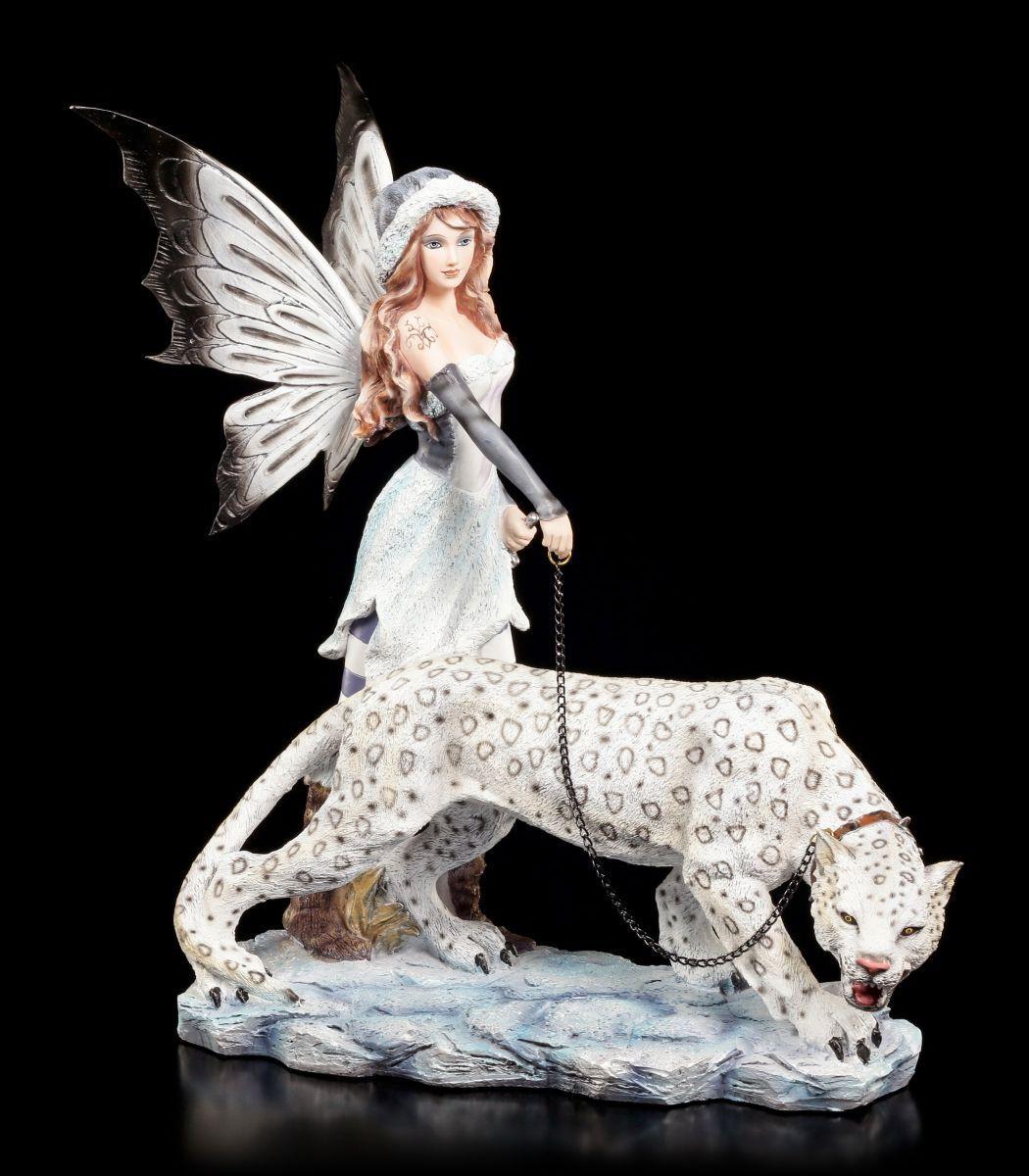 Figura Elfos con Schnee-Leopard - Estátua Estátua Estátua Decorativa Hadas Fantasía Compañero 26c62c