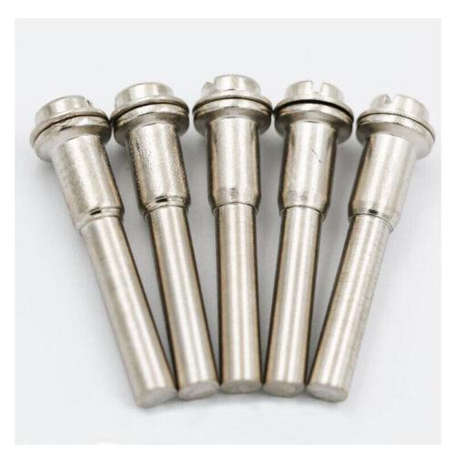 5x 1//4/'/' or 1//8/'/' Screw Mandrel Head Reinforced Shank Foredom Dremel Rotary Tool
