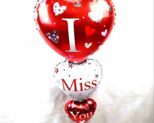 XL Helium diapositives Ballon tripartite cœur me manques Cadeau De Saint-Valentin Balloon