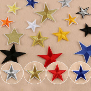 10x-Star-Applique-Clothing-Embroidery-Patch-Sticker-Iron-On-Sew-Cloth-DIY-Fabric