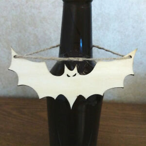 10x Unfinished Wooden Bat Shapes Craft