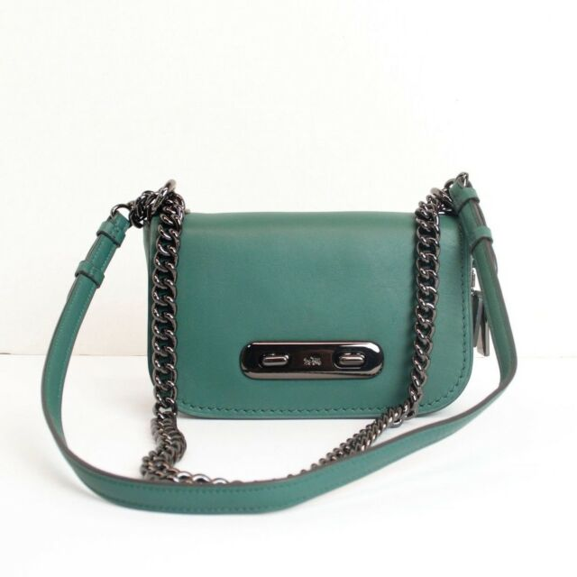 89d011979 Coach 18858 Dark Turquoise Glovetanned Leather Swagger 20 Shoulder ...