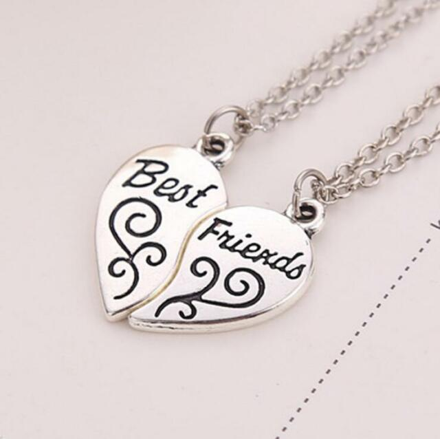 Friendship Pendant Necklace Hot best friend forever bff heart friendship pendant necklace girl hot best friend forever bff heart friendship pendant necklace girl jewelry 2 pcs audiocablefo