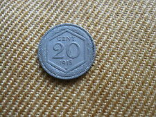 20 Centesimi 1918 Regno d'Italia tipo ESAGONO taglio liscio-nr. 556