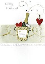"""LARGE 3D di Lusso """"per mio marito"""" Compleanno Carta realizzato a mano cartoline d'auguri"""