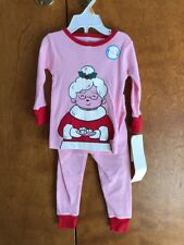 78cf46a15 Carter s 2 Piece Girls Holiday PJs Pajamas Mrs Claus Size 10 for ...