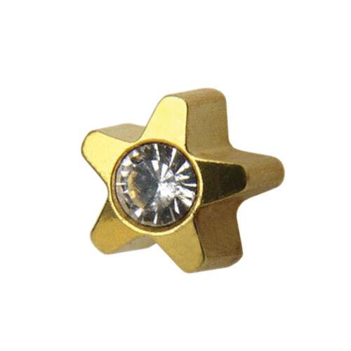 1 Paar STUDEX Medizinische Ohrstecker STERN mit Crystal gold 4mm