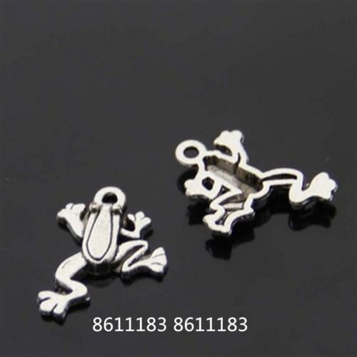 15pc Tibetan Silver frog Pendant Bracelet Charms Jewelry Accessories   GP785
