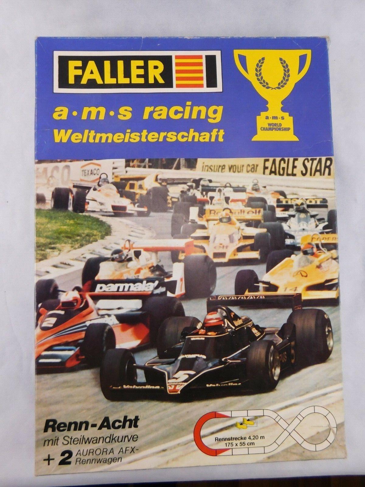 FALLER Rennbahn ams Racing Weltmeisterschaft World Championship H0 1 87 OVP  1  | Modern Und Elegant