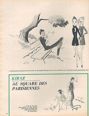 Breweriana, Beer ▬► Dessin Humoristique Kiraz Au Square Des Parisiennes 2 Pages 1966 Clear-Cut Texture