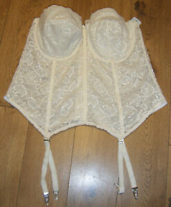 1a47890e7de Image is loading GODDESS-BRIDAL-BASQUE-IVORY-CORSET-SIZE-48C-STRAPLESS-