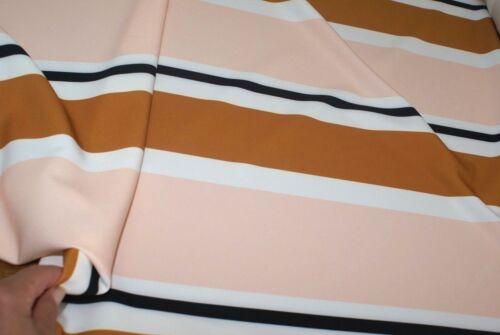 Scuba Fabric 1m x 1.45m /'VINTAGE STRIPE/' Print Medium-Weight Stretch
