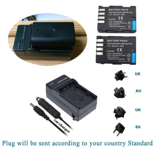 2X Batería y Cargador DMW-BTC10 DMW-BTC10G para DMW-BLF19 GH3 GH4 DC-GH5S